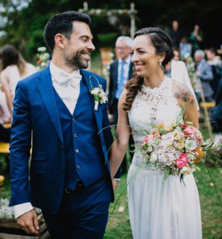 Brasilianisch-deutsche Hochzeit auf portugiesisch und deutsch