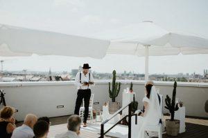 Heiraten über den Dächern von München