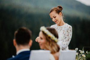 Freie Hochzeit in den Bergen