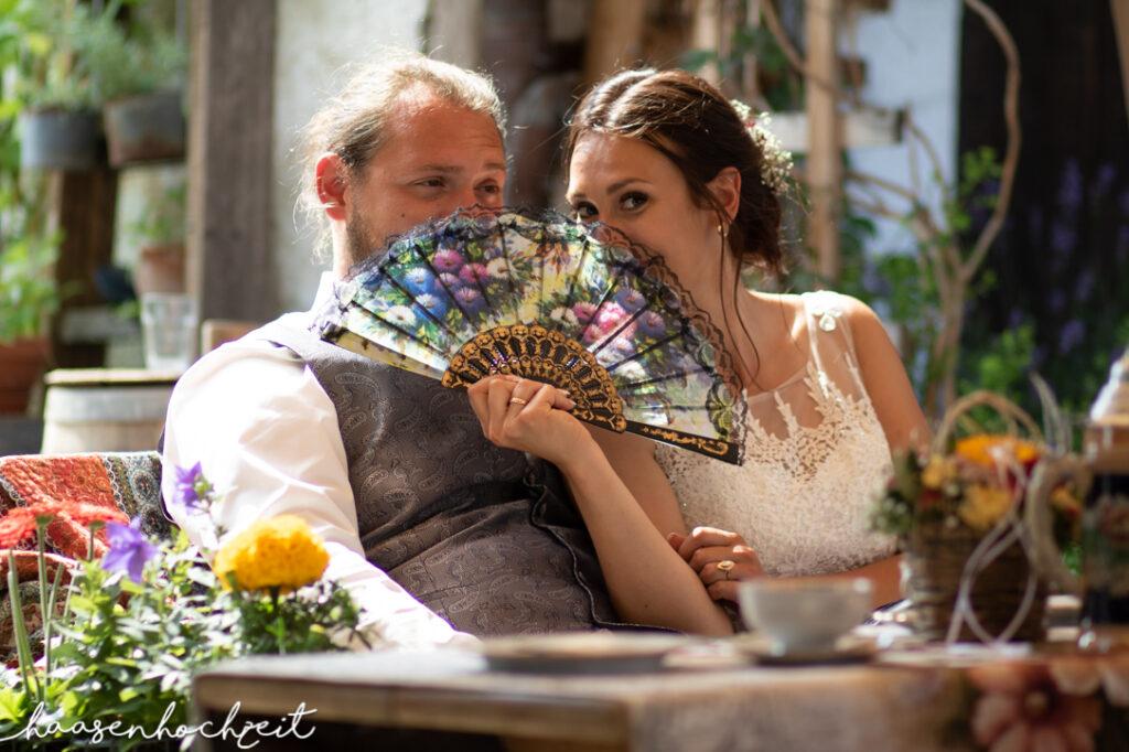 Brautpaar albert während der Hochzeitsfeier