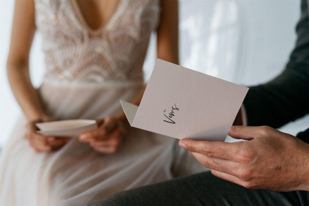 Vows Eheversprechen | Freie Trauung | Strauß & Fliege