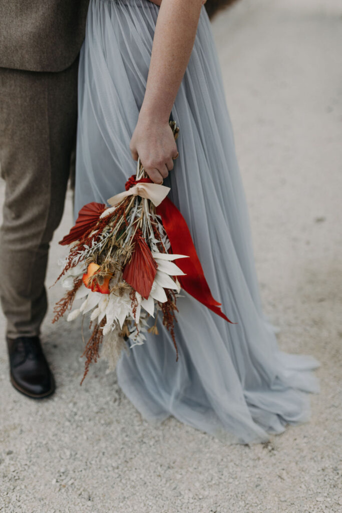 Brautstrauß | Boho Hochzeit zu zweit | Strauß & Fliege
