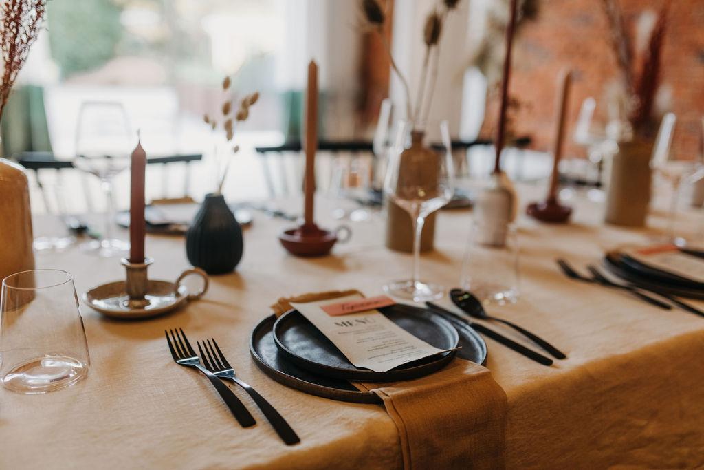 Hochzeitsdekoration Boho | Tischdekoration | Strauß & Fliege